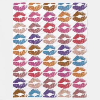 Stylish Colorful Lips #6 Fleece Blanket