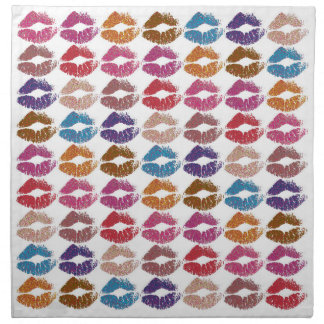 Stylish Colorful Lips #6 Napkin