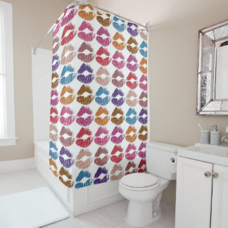 Stylish Colorful Lips #6 Shower Curtain