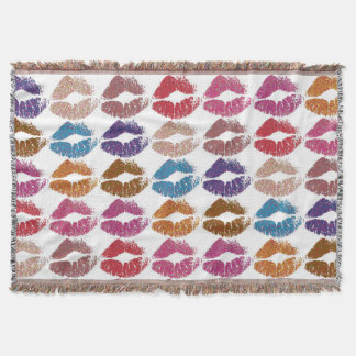 Stylish Colorful Lips #6 Throw Blanket
