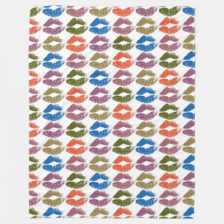 Stylish Colorful Lips #8 Fleece Blanket