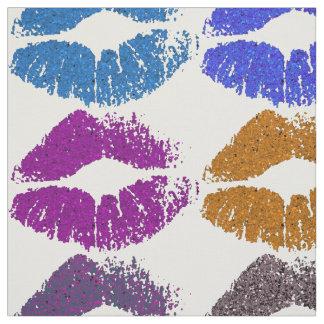 Stylish Colorful Lips #9 Fabric