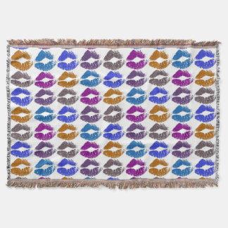 Stylish Colorful Lips #9 Throw Blanket