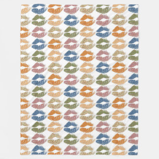 Stylish Colorful Lips Fleece Blanket