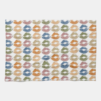 Stylish Colorful Lips Tea Towel
