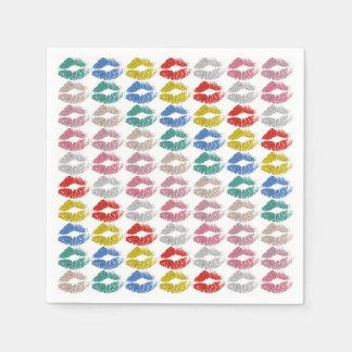 Stylish Colourful Lips #36 Disposable Napkin