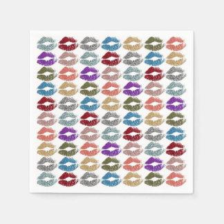 Stylish Colourful Lips #39 Disposable Napkin