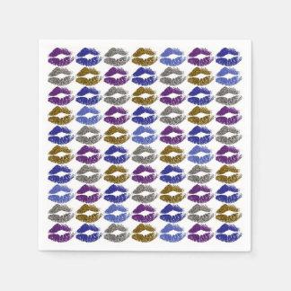 Stylish Colourful Lips #40 Disposable Napkins