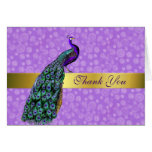 Stylish Colourful Peacock Thank You Card