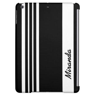 Stylish contemporary black striped design