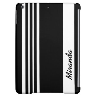 Stylish contemporary black striped design cover for iPad air