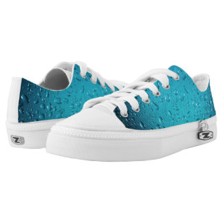 Stylish Cool Blue water drops Low Tops