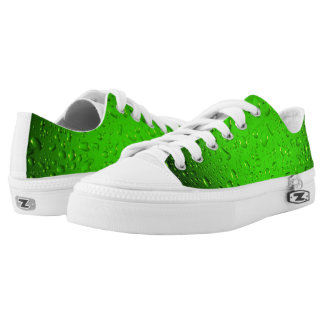 Stylish Cool Green water drops Low Tops