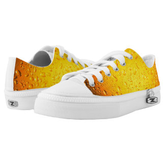 Stylish Cool Yellow water drops beer Low Tops