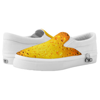 Stylish Cool Yellow water drops beer Slip-On Shoes
