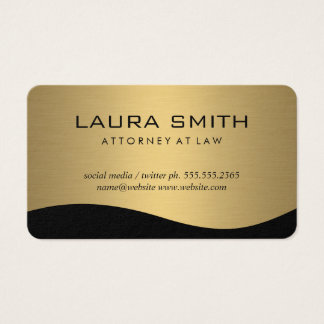Stylish Corporate / Gold Metallic Business Card