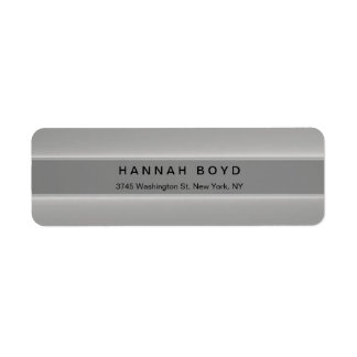 Stylish Creative Grey Modern Professional Return Address Label