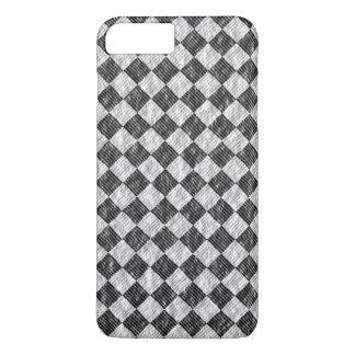 Stylish Cross Thatch Weave Black & White Checkers iPhone 8 Plus/7 Plus Case