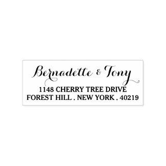 Stylish Custom Name & Address Wood Art Stamp