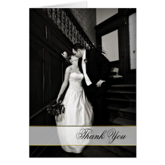 Stylish Custom Wedding Photo Thank You Card
