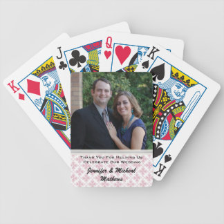 Stylish Custom Wedding Thank You Playing Cards