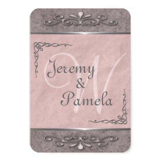 Stylish Customizable Pink Wedding Invitations