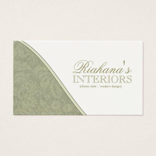 Stylish Damask Business Cards