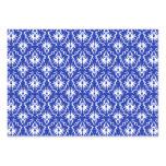 Stylish damask pattern. Blue and white. Business Card