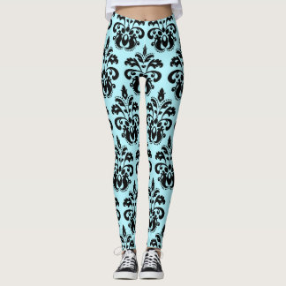 Stylish damask pattern fashion leggings