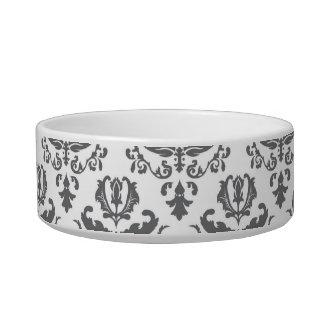 Stylish Damask Pattern Pet Bowls