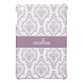 Stylish Damask (Purple) Cover For The iPad Mini