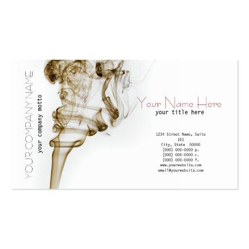 Stylish Dancing Smoke Card Business Card