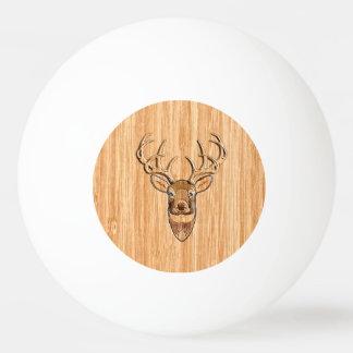 Stylish Deer Head Light Wood Grain Print Ping Pong Ball
