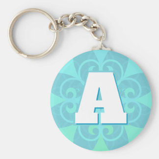 Stylish Design Initial Letter Keychain