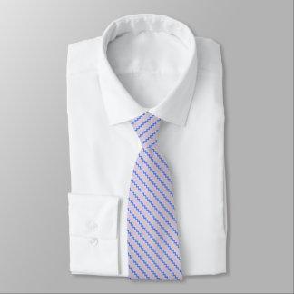 Stylish diagonal chevron cobalt ice blue pink tie