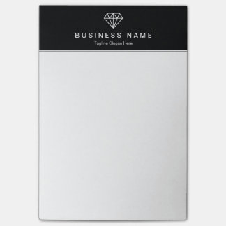Stylish Diamond Logo Classic Black and White Post-it® Notes