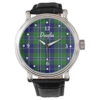 Stylish Douglas Plaid Faced Custom Watch