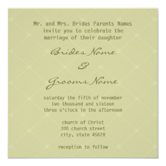 Stylish Earth Friendly Wedding Invitation