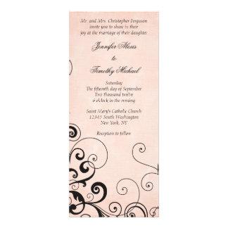 Stylish elegant black swirls wedding invitation