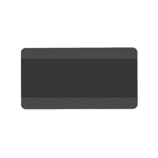 Stylish elegant dark grey textured blank address label
