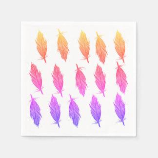 Stylish Elegant Feathers  Napkins Disposable Napkin