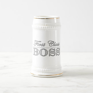 Stylish Elegant Gifts for Bosses First Class Boss Beer Steins