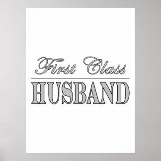 Stylish Elegant Husbands First Class Husband Poster