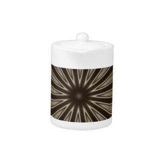 Stylish Elegant Kaleidoscope Design Brown Gray