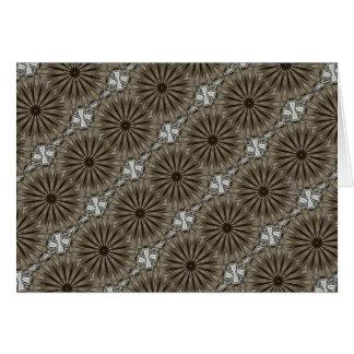 Stylish Elegant Kaleidoscope Design Brown Gray Card