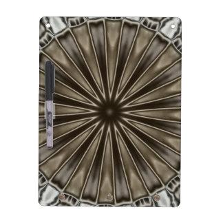 Stylish Elegant Kaleidoscope Design Brown Gray Dry-Erase Whiteboards