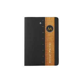 stylish & elegant, masculine passport holder
