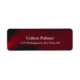Stylish Elegant Modern Dark Red Professional Return Address Label