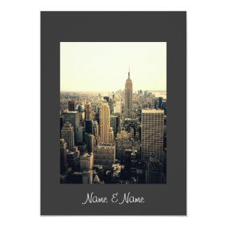 Stylish Elegant New York Wedding Invitation