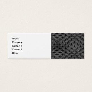 Stylish elegant pattern. Black and Gray Damask. Mini Business Card